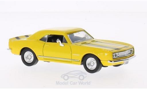 Chevrolet Camaro 1/43 Lucky Die Cast Z-28 jaune 1967 mit noireen Streifen ohne Vitrine miniature