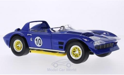 Chevrolet Corvette 1/18 Lucky Die Cast Grand Sport Roadster bleue No.10 1964 miniature