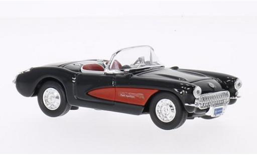 Chevrolet Corvette 1/43 Lucky Die Cast black/red 1957 sans Vitrine diecast model cars