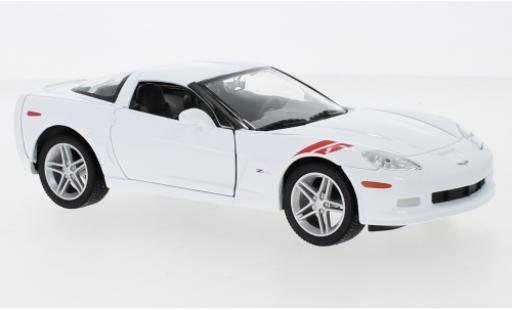 Chevrolet Corvette 1/24 Lucky Die Cast Z06 (C6) bianco/Dekor 2007 modellino in miniatura