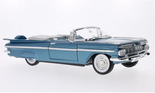 Chevrolet Impala 1/18 Lucky Die Cast metallise bleue 1959 miniature