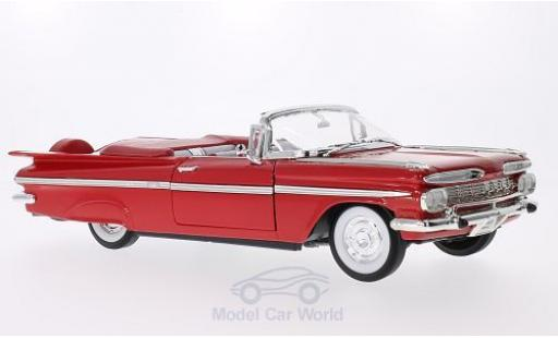 Chevrolet Impala 1/18 Lucky Die Cast rouge 1959 miniature