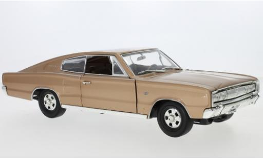 Dodge Charger 1/18 Lucky Die Cast metallise beige 1966 miniature