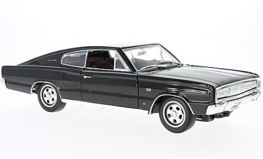 Dodge Charger 1/18 Lucky Die Cast noire 1966 miniature