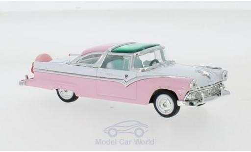 Ford Crown 1/43 Lucky Die Cast Victoria rose/blanche 1955 miniature