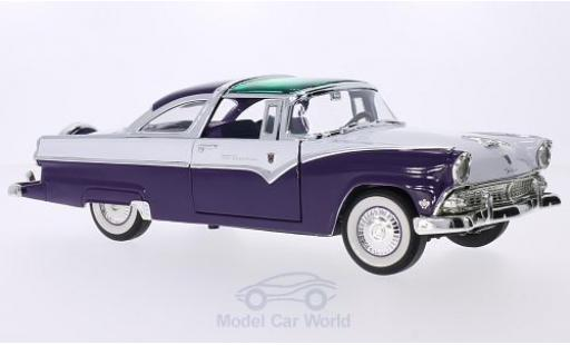 Ford Crown 1/18 Lucky Die Cast Victoria violette/blanche 1955 miniature