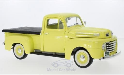 Ford F-1 1/18 Lucky Die Cast Pick Up With Flatbed Cover jaune 1948 miniature