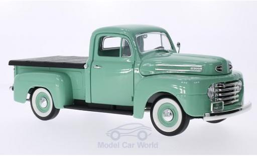Ford F-1 1/18 Lucky Die Cast Pick Up With Flatbed Cover verte 1948 miniature
