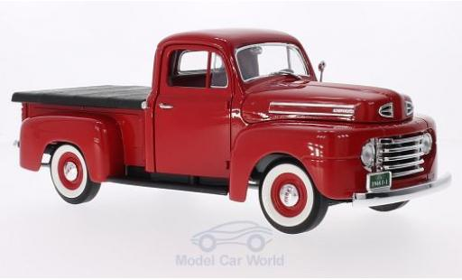Ford F-1 1/18 Lucky Die Cast Pick Up With Flatbed Cover rouge 1948 miniature