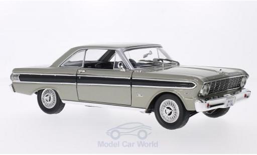 Ford Falcon 1/18 Lucky Die Cast metallise grise/noire 1964 miniature