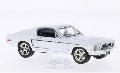 Ford Mustang GT 1/43 Lucky Die Cast 2+2 Fastback blanche 1968 miniature