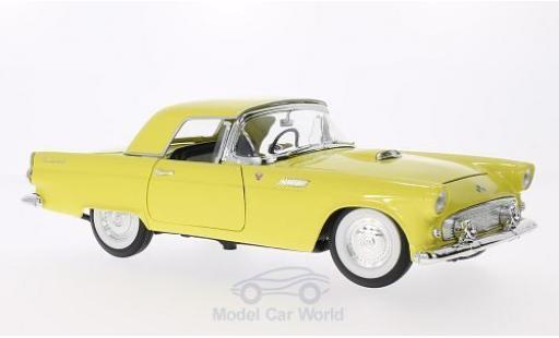 Ford Thunderbird 1955 1/18 Lucky Die Cast jaune miniature