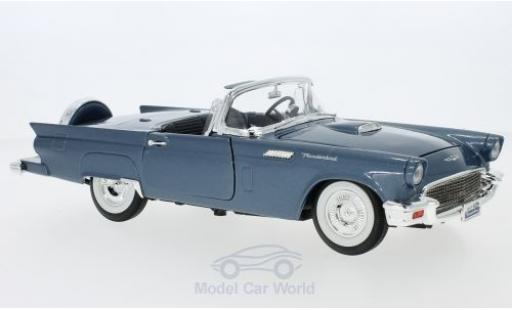 Ford Thunderbird 1957 1/18 Lucky Die Cast metallic-bleue 1957 Hardtop liegt bei miniature