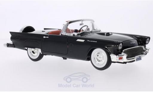 Ford Thunderbird 1/18 Lucky Die Cast noire 1957 Hardtop liegt bei miniature