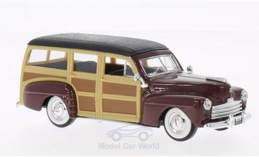Ford Woody 1/43 Lucky Die Cast rouge/noire 1948 ohne Vitrine miniature