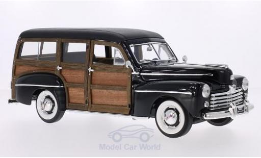 Ford Woody 1/18 Lucky Die Cast noire/Holzoptik 1948 miniature