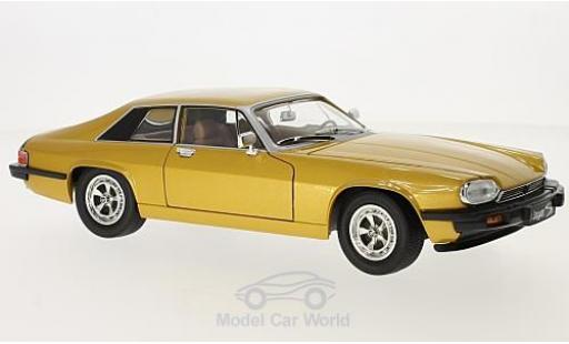 Jaguar XJS 1/18 Lucky Die Cast gold 1975 diecast model cars
