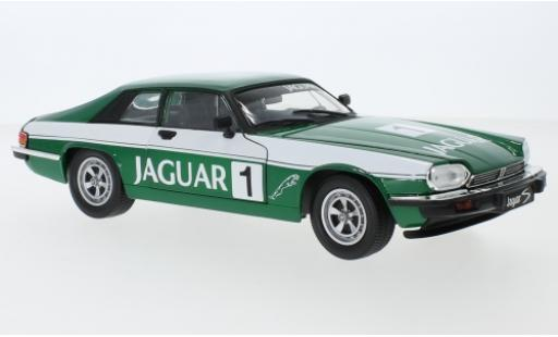 Jaguar XJS 1/18 Lucky Die Cast metallise verte/Dekor No.1 1975 miniature