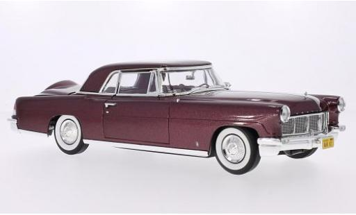 Lincoln Continental 1/18 Lucky Die Cast Mark II métallisé rouge 1956 miniature