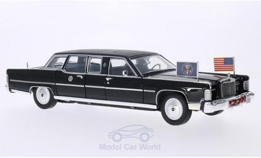 Lincoln Continental 1/24 Lucky Die Cast Reagan Car noire 1972 miniature