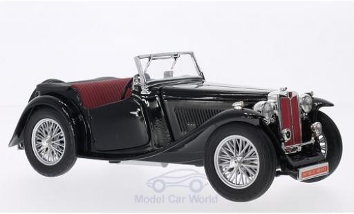 MG TC 1/18 Lucky Die Cast Midget noire RHD 1947 Verdeck liegt bei miniature