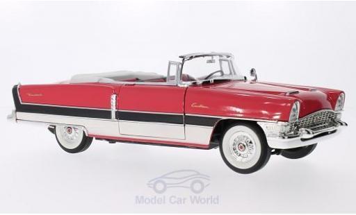 Packard Caribbean 1/18 Lucky Die Cast (Convertible) mit noireen Streifen hellrouge/blanche 1955 miniature