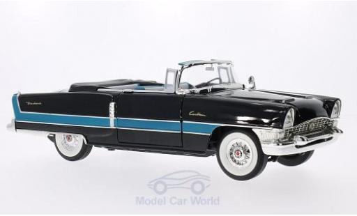 Packard Caribbean 1/18 Lucky Die Cast (Convertible) noire/bleue 1955 miniature