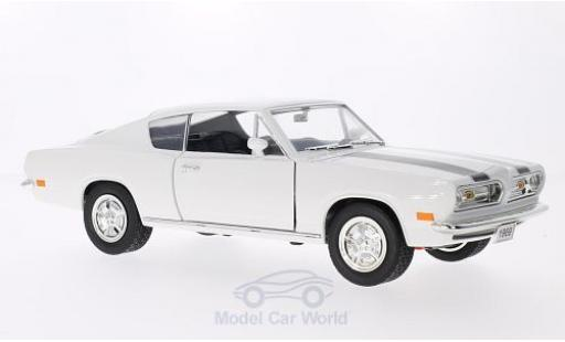 Plymouth Barracuda 1969 1/18 Lucky Die Cast blanche/noire 1969 miniature