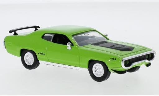 Plymouth GTX 1/43 Lucky Die Cast grün/matt-schwarz 1971