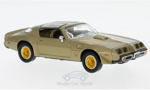 Pontiac Firebird 1979 1/43 Lucky Die Cast Trans Am gold/Dekor miniature