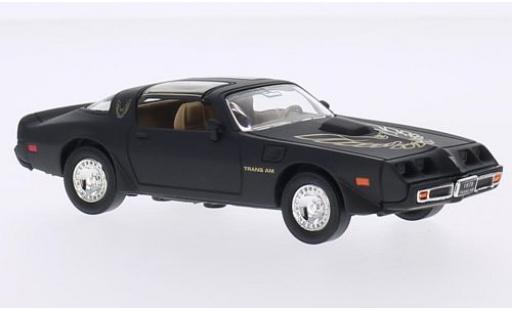 Pontiac Firebird 1/43 Lucky Die Cast Trans Am matt-noire/Dekor 1979 sans Vitrine miniature