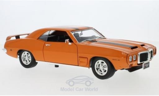 Pontiac Firebird 1969 1/18 Lucky Die Cast Trans Am orange/noire 1969 miniature
