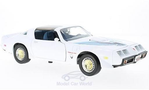Pontiac Firebird 1/18 Lucky Die Cast Trans Am blanche/Dekor miniature