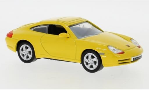 Porsche 996 1/43 Lucky Die Cast 911 Carrera  yellow 1998 diecast model cars