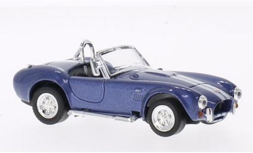 Shelby Cobra 1/43 Lucky Die Cast 427 S/C mit blancheen Streifen metallise bleue 1949 sans Vitrine miniature