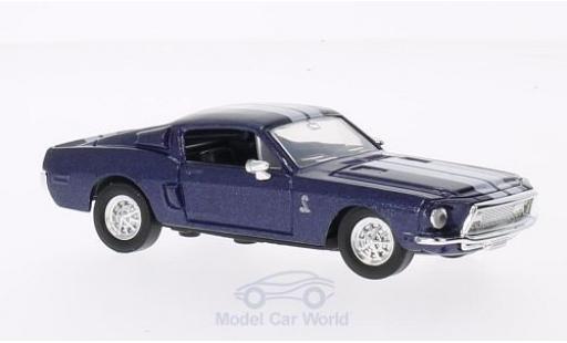 Shelby GT 500 1/43 Lucky Die Cast -KR mit blancheen Streifen métallisé bleue 1968 ohne Vitrine miniature