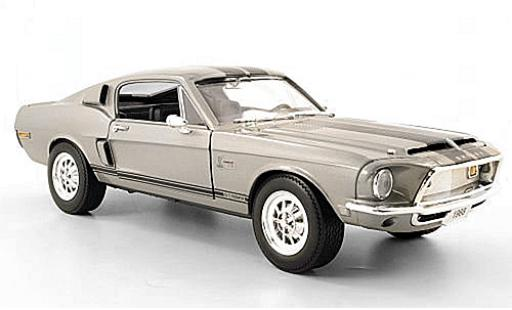 Shelby GT 1/18 Lucky Die Cast -500 KR grise 1968 miniature