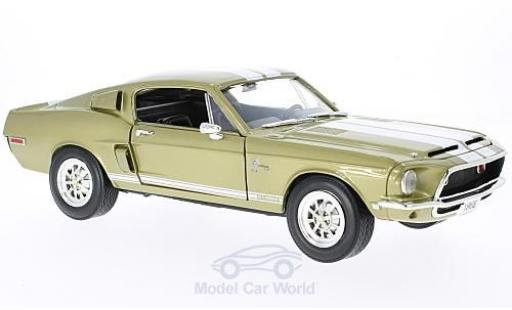 Shelby GT 1/18 Lucky Die Cast -500KR gold/blanche miniature