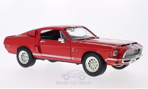 Shelby GT 1/18 Lucky Die Cast -500KR rouge 1968 mit blancheen Streifen miniature