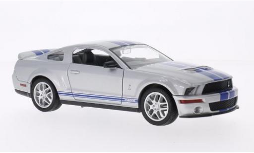 Shelby GT 1/24 Lucky Die Cast 500 grise/bleue 2007 miniature