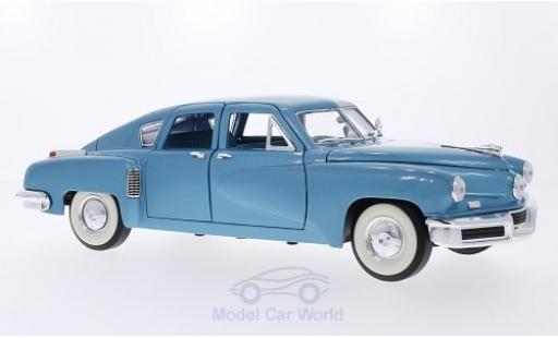 Tucker Torpedo 1/18 Lucky Die Cast metallise bleue 1948 miniature