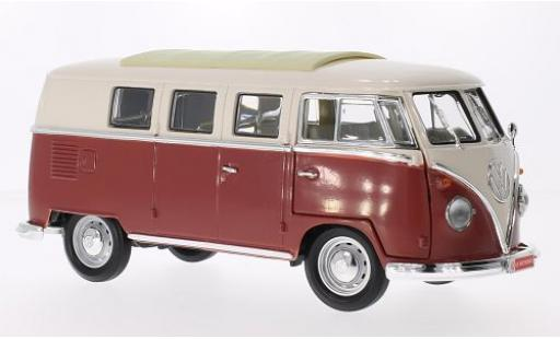 Volkswagen T1 1/18 Lucky Die Cast Microbus beige/red 1962 diecast model cars
