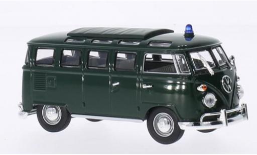 Volkswagen T1 1/43 Lucky Die Cast Samba grün Polizei 1962 modellautos