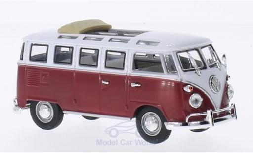 Volkswagen T1 1/43 Lucky Die Cast Samba Faltdach geöffnet rouge/blanche 1962 miniature