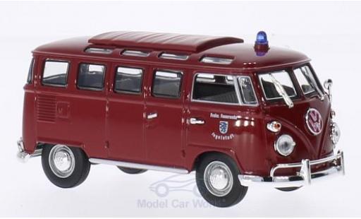 Volkswagen T1 B 1/43 Lucky Die Cast Samba Feuerwehr Ingolstadt 1962 miniature