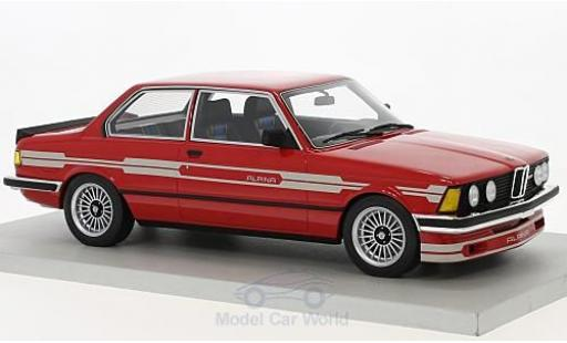 Bmw 323 1/18 Lucky Step Models Alpina rosso 1983 modellino in miniatura