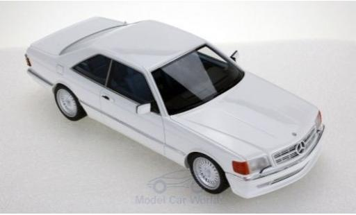 Mercedes 560 1/18 Lucky Step Models SEC (C126) Lorinser blanche 1987 miniature