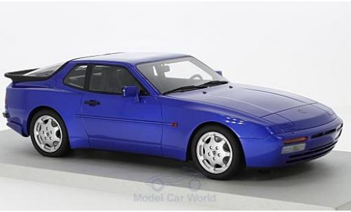 Porsche 944 1991 1/18 Lucky Step Models Turbo S metallise bleue miniature