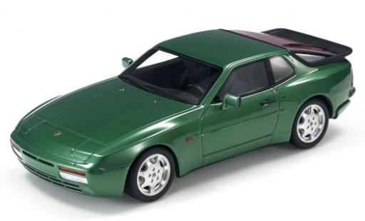 Porsche 944 1/18 Lucky Step Models Turbo S metallise verte miniature