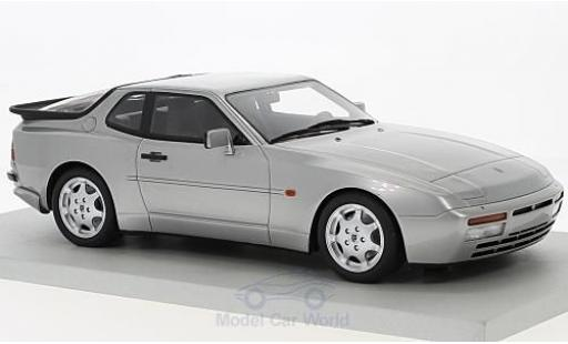 Porsche 944 1991 1/18 Lucky Step Models Turbo S grise miniature